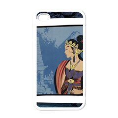 Java Indonesia Girl Headpiece Apple Iphone 4 Case (white)