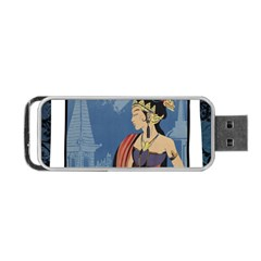 Java Indonesia Girl Headpiece Portable Usb Flash (one Side)