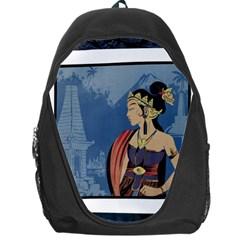 Java Indonesia Girl Headpiece Backpack Bag