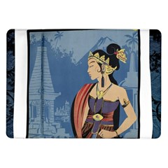 Java Indonesia Girl Headpiece Samsung Galaxy Tab 10 1  P7500 Flip Case