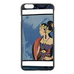 Java Indonesia Girl Headpiece Apple Iphone 6 Plus/6s Plus Black Enamel Case
