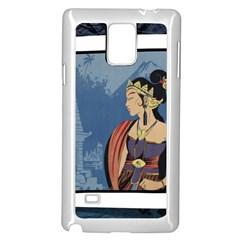 Java Indonesia Girl Headpiece Samsung Galaxy Note 4 Case (white)