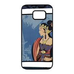 Java Indonesia Girl Headpiece Samsung Galaxy S7 Edge Black Seamless Case by Nexatart