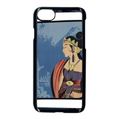 Java Indonesia Girl Headpiece Apple Iphone 8 Seamless Case (black)