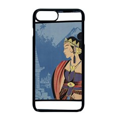 Java Indonesia Girl Headpiece Apple Iphone 8 Plus Seamless Case (black)