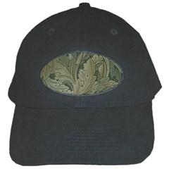 Vintage Background Green Leaves Black Cap