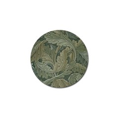 Vintage Background Green Leaves Golf Ball Marker (10 Pack)