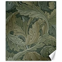 Vintage Background Green Leaves Canvas 20  X 24