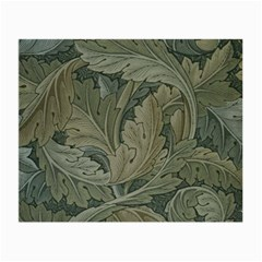 Vintage Background Green Leaves Small Glasses Cloth (2 Side)
