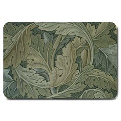 Vintage Background Green Leaves Large Doormat  by Nexatart
