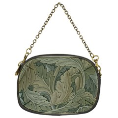 Vintage Background Green Leaves Chain Purses (one Side)  by Nexatart