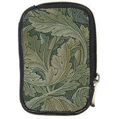 Vintage Background Green Leaves Compact Camera Cases
