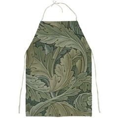 Vintage Background Green Leaves Full Print Aprons
