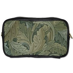 Vintage Background Green Leaves Toiletries Bags