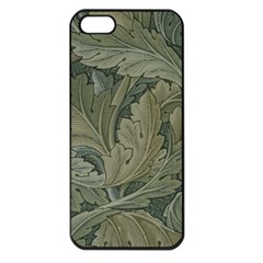 Vintage Background Green Leaves Apple Iphone 5 Seamless Case (black)