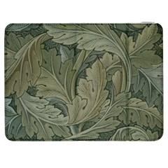 Vintage Background Green Leaves Samsung Galaxy Tab 7  P1000 Flip Case