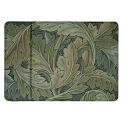 Vintage Background Green Leaves Samsung Galaxy Tab 8 9  P7300 Flip Case