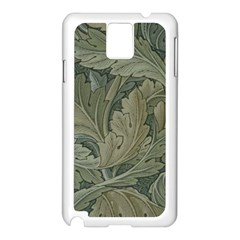 Vintage Background Green Leaves Samsung Galaxy Note 3 N9005 Case (white)
