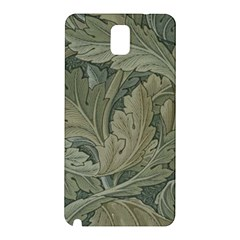 Vintage Background Green Leaves Samsung Galaxy Note 3 N9005 Hardshell Back Case by Nexatart