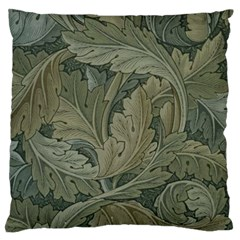 Vintage Background Green Leaves Large Flano Cushion Case (two Sides)
