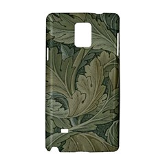 Vintage Background Green Leaves Samsung Galaxy Note 4 Hardshell Case
