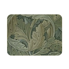Vintage Background Green Leaves Double Sided Flano Blanket (mini)