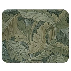 Vintage Background Green Leaves Double Sided Flano Blanket (medium)