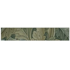 Vintage Background Green Leaves Large Flano Scarf