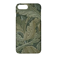 Vintage Background Green Leaves Apple Iphone 7 Plus Hardshell Case