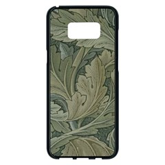Vintage Background Green Leaves Samsung Galaxy S8 Plus Black Seamless Case