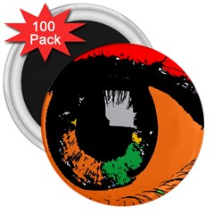 Eyes Makeup Human Drawing Color 3  Magnets (100 Pack)