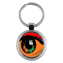 Eyes Makeup Human Drawing Color Key Chains (round)