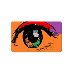 Eyes Makeup Human Drawing Color Magnet (name Card)