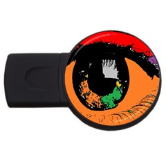 Eyes Makeup Human Drawing Color Usb Flash Drive Round (2 Gb)