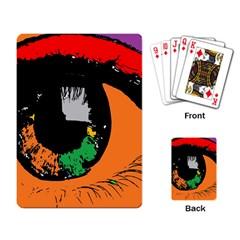 Eyes Makeup Human Drawing Color Playing Card