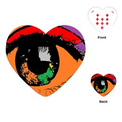 Eyes Makeup Human Drawing Color Playing Cards (heart)