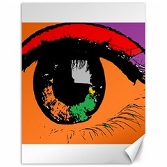 Eyes Makeup Human Drawing Color Canvas 12  X 16