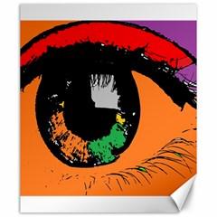 Eyes Makeup Human Drawing Color Canvas 20  X 24