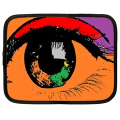 Eyes Makeup Human Drawing Color Netbook Case (large)