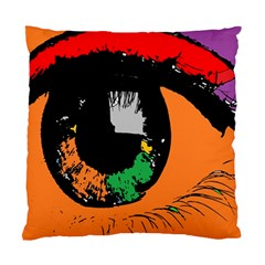 Eyes Makeup Human Drawing Color Standard Cushion Case (one Side)
