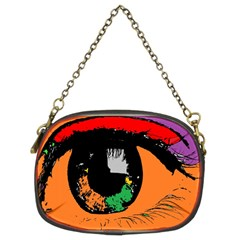 Eyes Makeup Human Drawing Color Chain Purses (two Sides)
