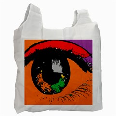 Eyes Makeup Human Drawing Color Recycle Bag (one Side)