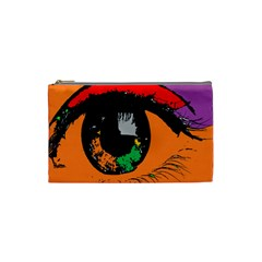 Eyes Makeup Human Drawing Color Cosmetic Bag (small)