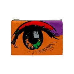 Eyes Makeup Human Drawing Color Cosmetic Bag (medium)