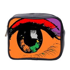 Eyes Makeup Human Drawing Color Mini Toiletries Bag 2 Side