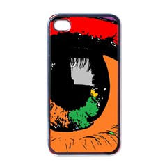 Eyes Makeup Human Drawing Color Apple Iphone 4 Case (black)