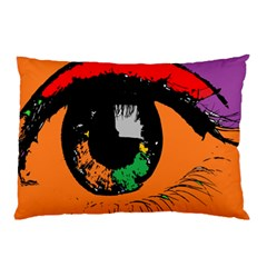 Eyes Makeup Human Drawing Color Pillow Case (two Sides)