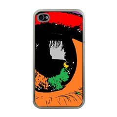 Eyes Makeup Human Drawing Color Apple Iphone 4 Case (clear)