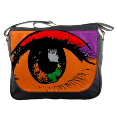 Eyes Makeup Human Drawing Color Messenger Bags