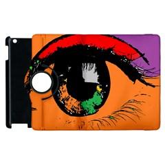 Eyes Makeup Human Drawing Color Apple Ipad 3/4 Flip 360 Case